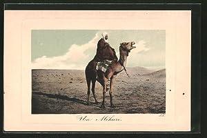 Ansichtskarte Un Méhari, Araber auf seinem Kamel