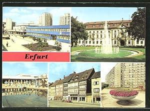 Ansichtskarte Erfurt, Wohngebiet Riethstrasse, Juri-Gagarin-Ring, Domplatz