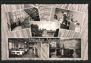 Ansichtskarte Jahnsdorf, Pflegeheim, Innenansichten, Aussenansicht
