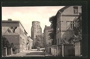 Ansichtskarte Bad Liebenwerda, Strasse am Lubwartturm