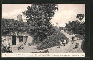 Carte postale Les Ormeaux, Habitations dans le