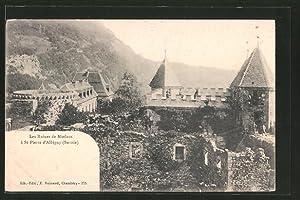 Carte postale Saint-Pierre-d'Albigny, les ruines de Miolans