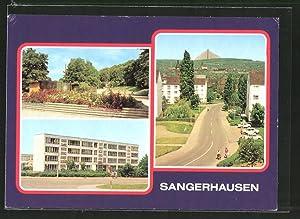 Ansichtskarte Sangerhausen, An der Walkmühle, Polytechnische Oberschule