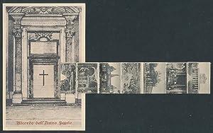 Leporello-Ansichtskarte Roma, Ricordo dell'Anno Santo