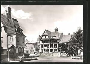 """Ansichtskarte Georgenthal, Hotel """"Deutscher Hof"""" und Clara-Zetkin-Heim"""