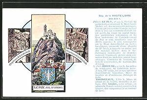 Carte postale Le Puy, eglise St. Michel,