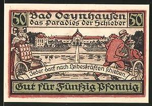 Notgeld Bad Oeynhausen, 50 Pfennig, Kurgast wird