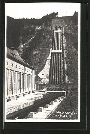 Ansichtskarte Walchensee, Ansicht des Kraftwerks