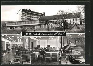 """Ansichtskarte Schnett, FDGB-Erholungsheim """"Kaluga"""", Innenansichten"""