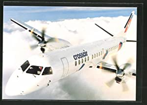 Ansichtskarte Crossair Saab 2000 Jet-Prop, die Propellermaschine