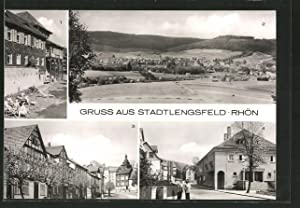 Ansichtskarte Stadtlengsfeld, FDGB-Diätheim, Panoramaansicht, Marktstrasse, Felda-Lichtspiele