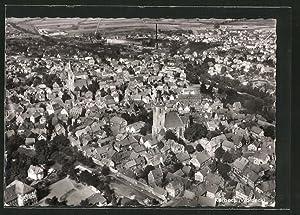 Ansichtskarte Korbach, Ortsansicht, Fliegeraufnahme