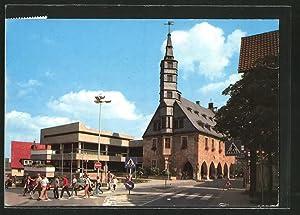 Ansichtskarte Korbach, Altes und neues Rathaus