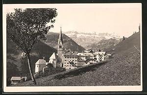 Cartolina Pleve di Livinallongo, Panorama verso li
