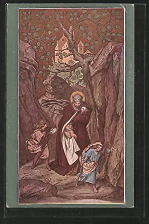 Künstler-Ansichtskarte M. v. Schwind: Sankt Elisabeth wird