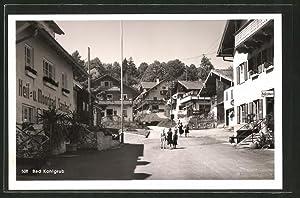 Ansichtskarte Bad Kohlgrub, Strassenpartie mit Heil- und
