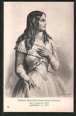 Carte postale Madame Roland, Marie-Jeanne Phlipon