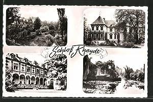 Ansichtskarte Rheydt, Ansichten von Schloss und Schlosspark