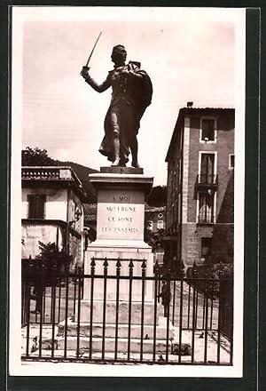 Carte postale Le Vigan, La Statue du