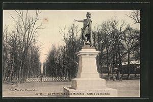 Carte postale Autun, la promenade des Marbres,
