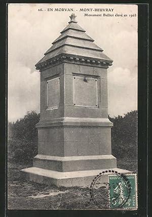 Carte postale Mont-Beuvray, Monument Bulliot élevé en
