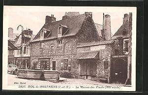 Carte postale Dol-de-Bretagne, la maison des Plaids