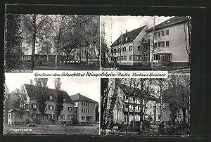 Ansichtskarte Bad Mingolsheim, Café im Park, Front-