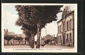 Carte postale Saint-Leger-sous-Beuvray, la Place et la