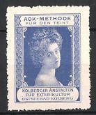 Reklamemarke Ostseebad Kolberg, AOK-Methode für den Teint,