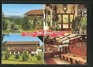 """Ansichtskarte Momart, Cafe-Pension """"Zur Post"""", bes. Willi"""
