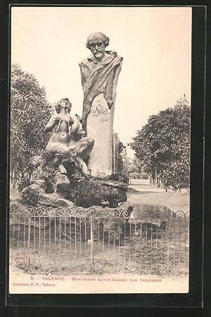 Carte postale Valence, monument Louis Gallet par