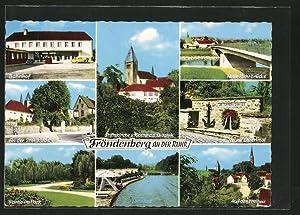 Ansichtskarte Fröndenberg, Bahnhof, Neues Ehrenmal, Stiftskirche u.