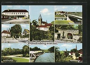 Ansichtskarte Fröndenberg, Bahnhof, Löhnbad, Neues Ehrenmal