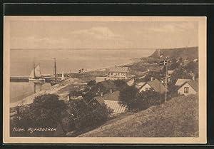 Ansichtskarte Hven, Kyrkbacken, Segelboot