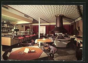 Ansichtskarte Lossburg, Gastraum von Gasthaus- Bar- und