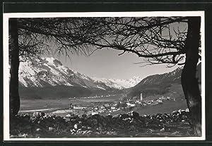Ansichtskarte Samaden, Ortsansicht und Blick ins Tal