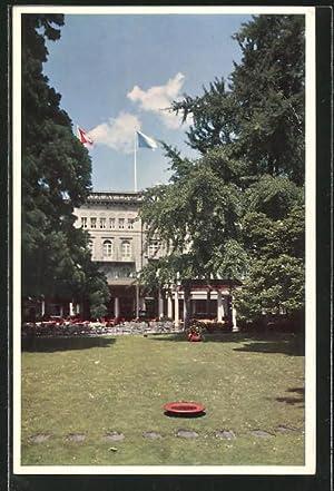 Ansichtskarte Zürich, Hotel Baur au Lac, Gartenpartie