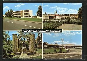 Ansichtskarte Rodheim, Strassenpartie, Teilansicht, Denkmalpartie