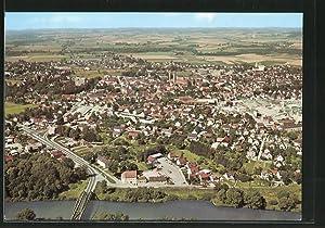 Ansichtskarte Moosburg, Luftaufnahme der Stadt