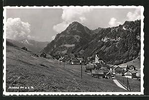 Ansichtskarte Melchthal, Ortsansicht mit Kirche