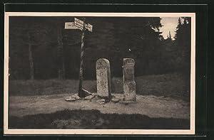 Ansichtskarte Grenzsteine am Dreieckmark