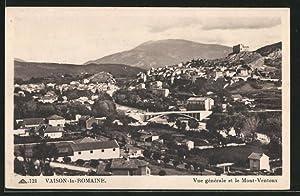 Carte postale Vaison-la-Romaine, vue générale et le