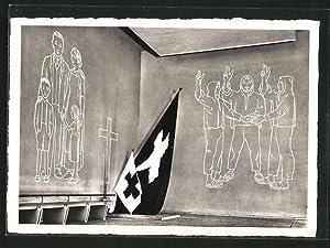 """Ansichtskarte Zürich, Schweizerische Landesausstellung 1939, """"Wir wollen"""