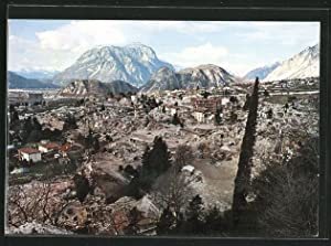 Cartolina Gemona del Friuli, Panorama dopo i