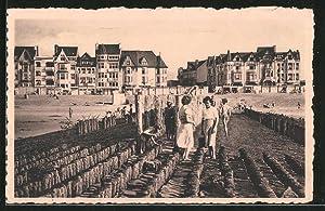 Ansichtskarte Knocke-Albert-Plage, le Plage