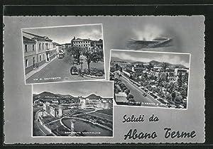 Cartolina Abano Terme, Via G. Matteotti, Sorgente