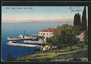 Cartolina San Vigilio, Dampfer passiert den Ort