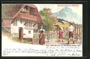 Lithographie Schiller's Wilhelm Tell No. 5, Früh