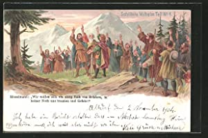 Lithographie Schiller's Wilhelm Tell No. 4, Wir