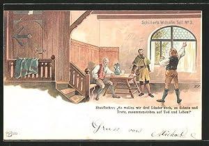 Lithographie Schiller's Wilhelm Tell No. 3, Stauffacher's